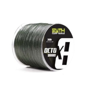 Faith Octo X8 Braid | Vert | 30lb | 0.20mm | 1000m | Tresse