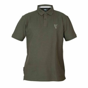 Fox Collection Green | Silver Polo Shirt | Taille XL | Tee-Shirt