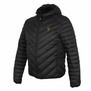 Fox Collection Quilted Jacket | Black Orange | Maat XL