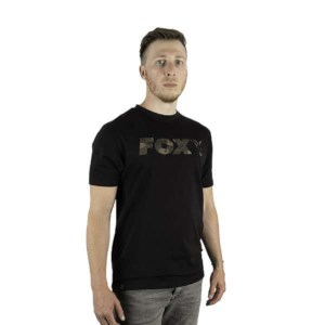 Fox Black/Camo Raglan T-shirt | Roz. XL