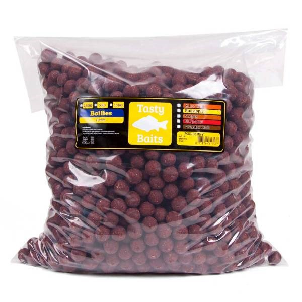 Tasty Baits Mulberry Magic | Boilies | 20mm | 5kg