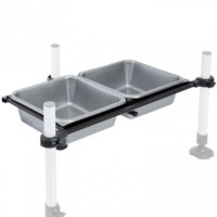 Rive 2 Square Bowls Support With Bowls Without Leg | D25