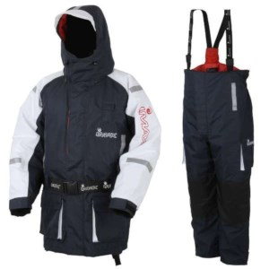 Imax CoastFloat Floatation Suit | Bleu/Blanc | Taille S | Ensemble Veste & Salopette