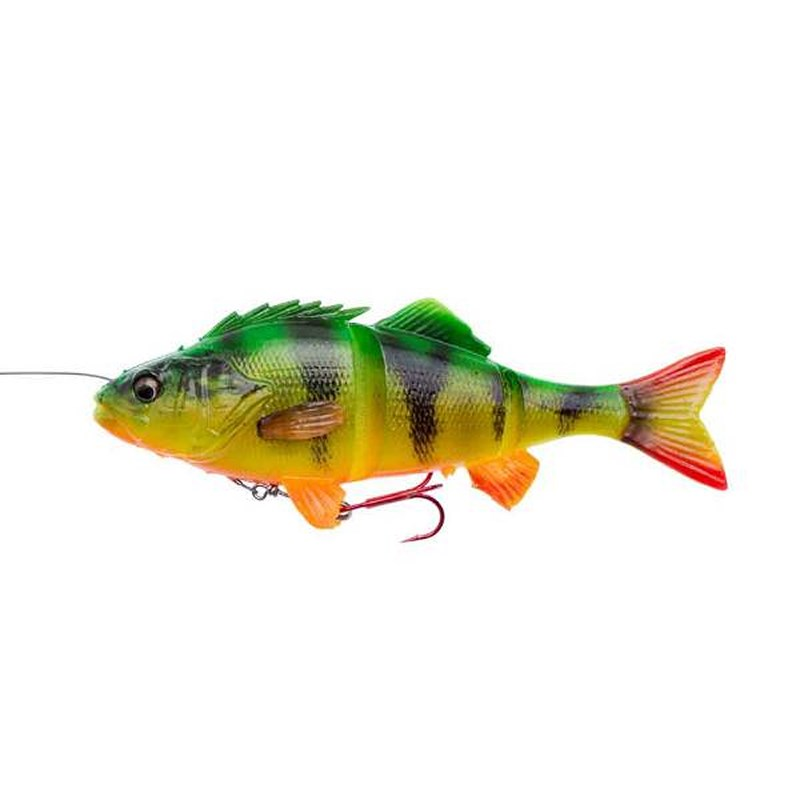 Savage Gear 4D Line Thru Perch | 23cm | 145g | Firetiger | Leurre Souple