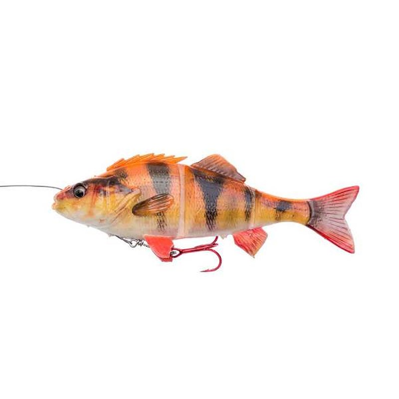 Savage Gear 4D Line Thru Perch | 23cm | 145g | Albino | Leurre Souple
