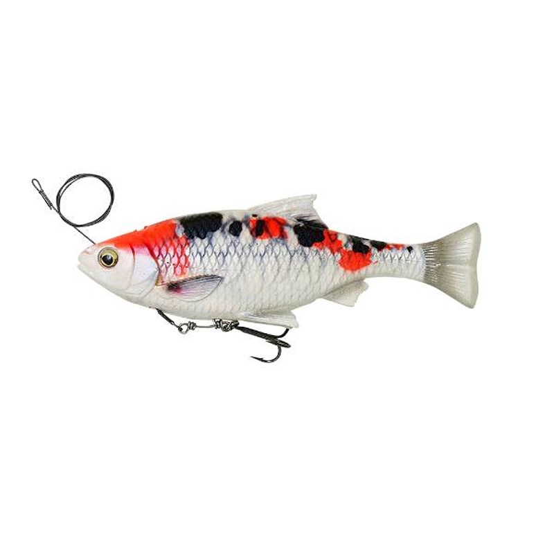 Savage Gear 4D Line Thru Pulse Tail Roach | Slow Sink | Koi | 21cm | 150g | Poisson Nageur