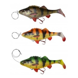 Savage Gear 4D Line Thru Perch Shad | 20cm | 100g | Perch, Firetiger, Albina | 3 Stuks