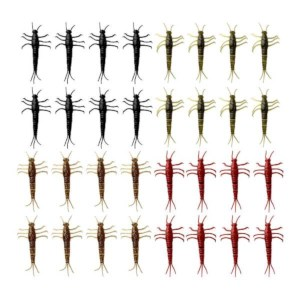 Savage Gear MayFly Nyymph | 5cm | Black, Green, Brown, Red | 32 Stuks